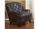 Christopher Knight Home Tafton Tufted Brown Leather Club Chair