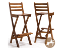 Christopher Knight Home 237595 Tundra Outdoor Wood Barstool