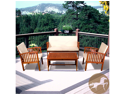 Christopher Knight Home Carolina 4pc Outdoor Eucalyptus Sofa Set
