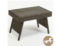 Christopher Knight Home Outdoor Adjustable Brown PE Wicker Folding Table