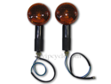 "3"" Black Round Amber Motorcycle Turn Signal Indicator Pair for Kawasaki Z1 900"