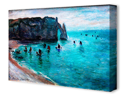 Etretat by Claude Monet Canvas Art Print