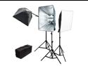 LoadStone Studio 2400W 3 Softbox Lighting & Boom Kit