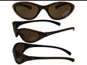 Birdz Hen Slim Line Riding Sunglasses with Bronze Frame and Brown Lenses