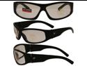Birdz Blackbird Aggro-Look Riding Glasses with Clear Lenses