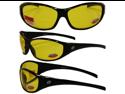 Birdz Sparrow Riding Glasses Gloss Black Frame with 1.0 Bifocal Yellow Lenses