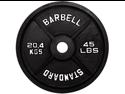 USA Sports Black Olympic 35lb Plate
