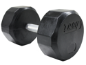 Troy 55lb Individual 12-Sided Rubber Encased Dumbbell