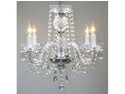"All Crystal Chandelier H17"" x W17"""