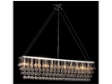 "Chandelier w/ Crystal Modern ""Rain Drop"" Chandeliers Billiard Pool Table Ligh..."