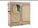 Double Door Storage Closet with Shoe Organizer 60'' Inch Wide