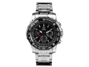 Shark Saw Collection SH015 Men's Black Dial 6-Hand Military Chronograph Watch