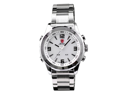 SHARK LED Digital Date Day Luxury Men's Quartz Sport Wrist White Dial Watch