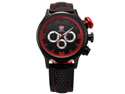 Red SHARK Fashion Military Mens Sport Date Day Quartz Analog Leather Wrist Watch