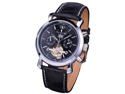 KS KS003 Men's Tourbillion Military Leather Mechanical Watch