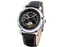 KS Luxury Tourbillion Moon Phase Automatic Mechanical Mens Leather Wrist Watch