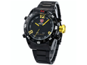 SHARK Mens LED Date Day Digital Black Dial Sport Amry Quartz Wrist Watch