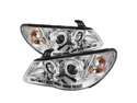 Hyundai Elantra 07-10 DRL LED Projector Headlights - Chrome