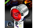 "Red LED ILLUMINATE ENGINE START PUSH BUTTON SWITCH 12V KIT Universal 1.5"" 1.125"""
