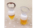 2pcs Creative Acrylic Fridge Shape Magnet Beer Bottle Opener