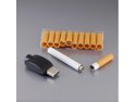 SL0059 Rechargeable Paper Cigarette Case Pattern Filter Electronic Cigarette Kit (White)