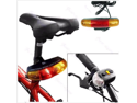 USA 7 LED LIGHT ELECTRIC HORN 3 IN 1 CYCLING BICYCLE BIKE TURN SIGNAL BRAKE TAIL
