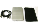 "New USB 2.0 2.5"" SATA Hard Disk Drive HDD Silver Enclosure/Case #B"