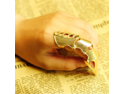 2PCS Gold Punk Rock Vintage Long Joint Knuckle Adjustable Finger Rings