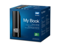 WD My Book 2TB USB 3.0 Hard Drive with Security, Local and Cloud Backup (WDBFJK0020HBK-NESN)