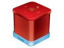 The iGlowSound™Cube Wireless Speaker with built-in Speakerphone - Red