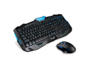 CORN Multimedia Wireless Gaming Keyboard and Mouse Combo With USB RF 2.4GHz, Anti-Ghosting Feature & Water-Proof Design - Black & Blue (Upgraded Version)