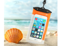 30m Waterproof Case Bag  Cell Phone Protector For Apple iPhone 6 plus ,Suitable for 5.2 - 6.3 in screen phone (Orange)