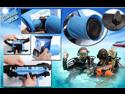 Tteoobl T-518L 20m HD SLR Camera Waterproof Bag Can Shutter Focusing Digital Camera Waterproof Bag (Blue)