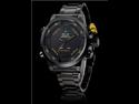 Men's Multi-Functional Analog-Digital Black Steel Wrist Watch