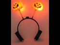 Double Pumpkin Halloween Decorations Hair Headband Shiny Headwear
