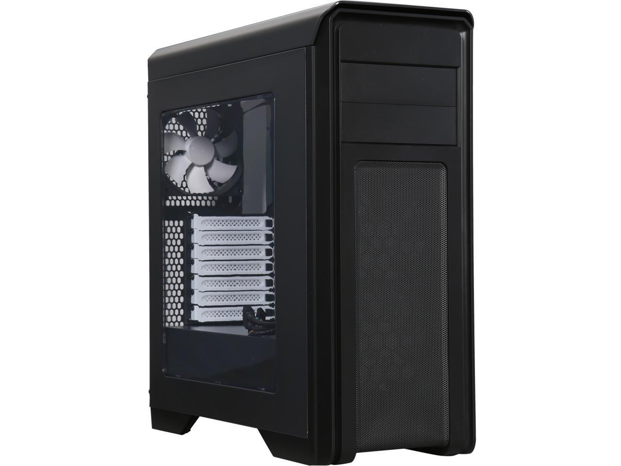 Diypc D480-BK-Window Dual USB 3.0 ATX Mid Tower Computer Case (Black )