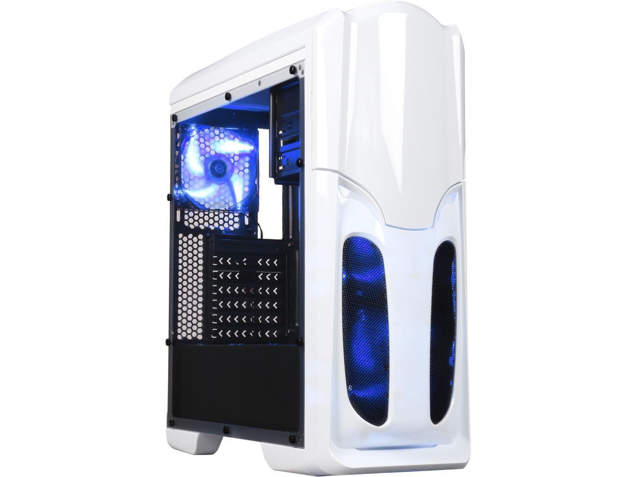 DIYPC USB 3.0 ATX Mid Tower Gaming Computer Case (White)