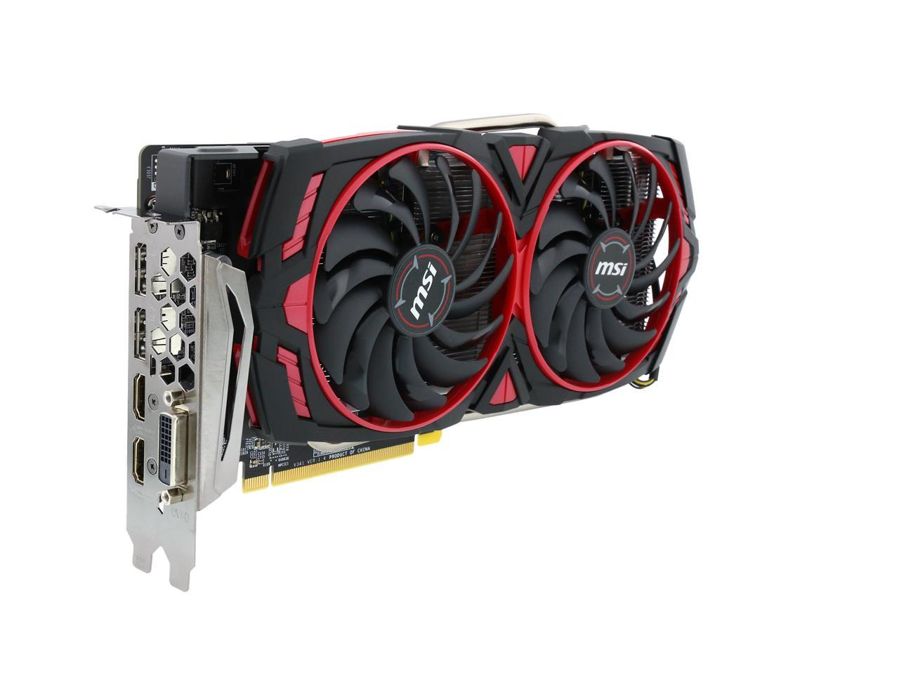 MSI Radeon ARMOR MK2 8G OC 8GB 256-Bit GDDR5 PCI Video Card