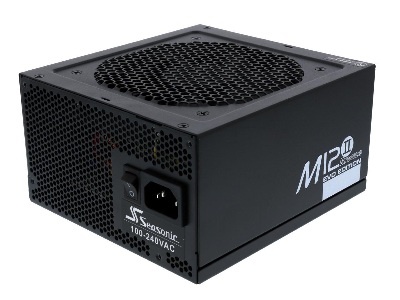 SeaSonic M12II 520 Bronze EVO Edition 520W Full Modular Active PFC Power Supply