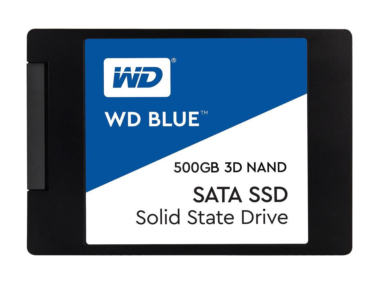 WD Blue 3D NAND 500GB Internal SSD - SATA III 6Gb/s 2 5