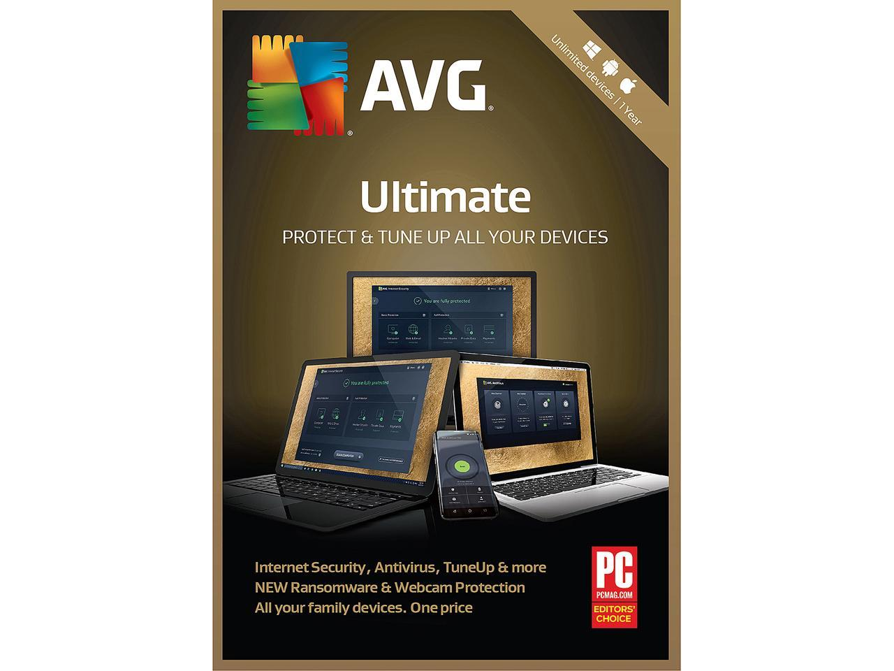 AVG Ultimate 2018 Unlimited Devices 1 Year - Download
