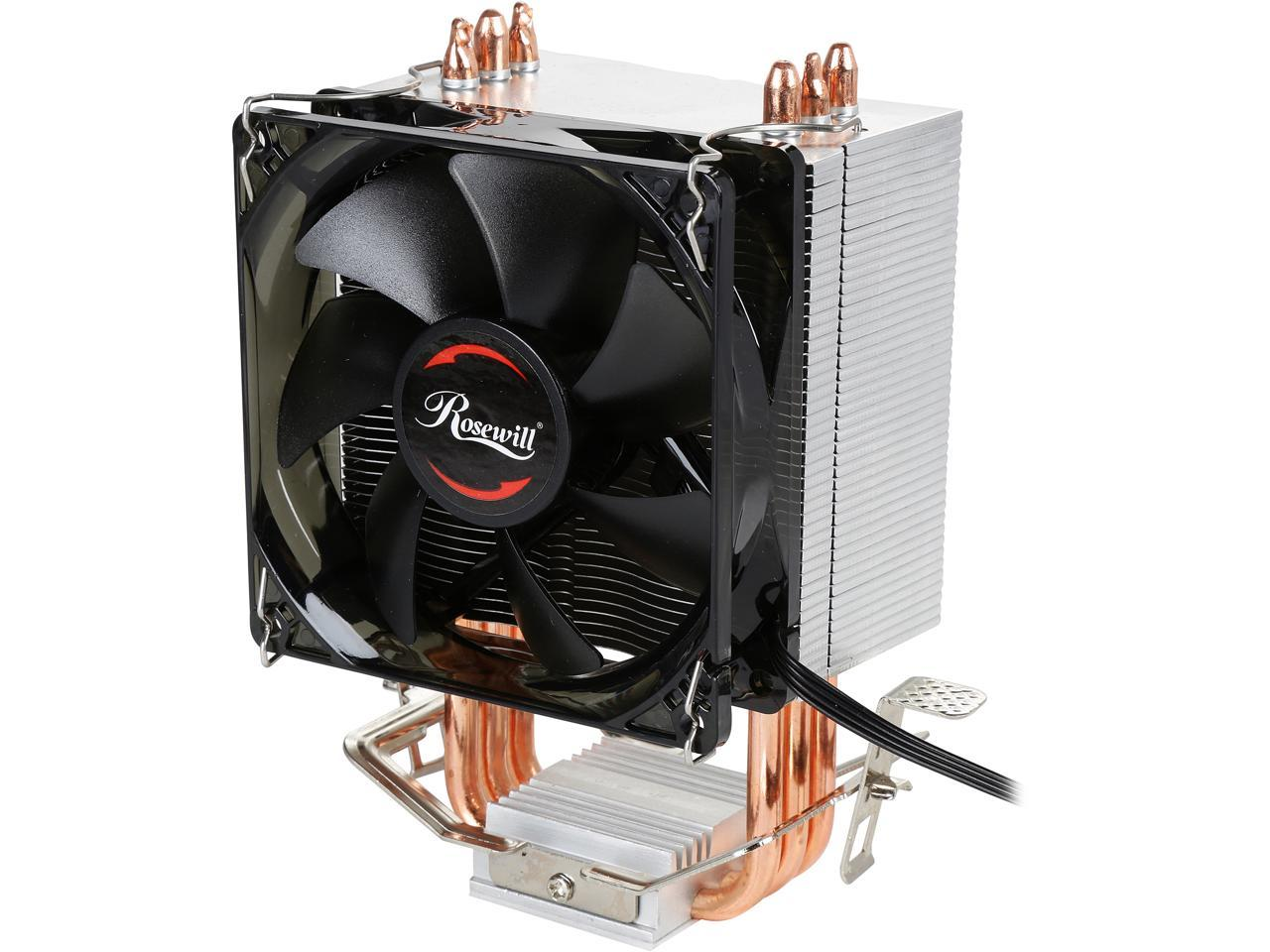CPU LED Dual Fan Cooler Heatsink for Intel Socket AMD Portable