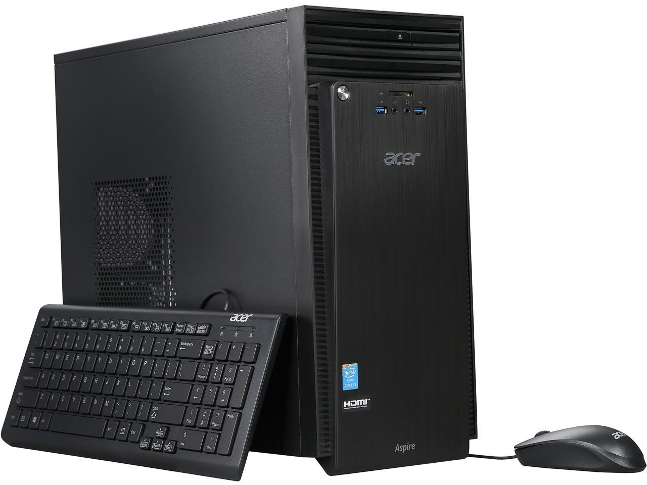 Acer Aspire T ATC-705-UR62 Desktop with Intel Core i3-4160 / 6GB / 1TB / Win 10