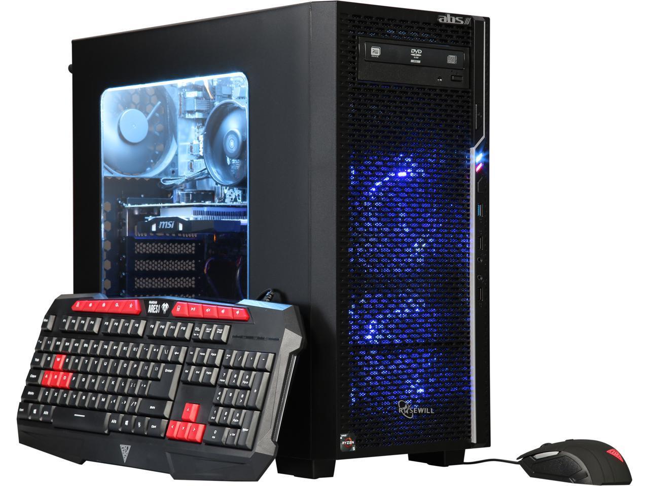 ABS Prime-1400 AMD Quad Core Ryzen 5 1400 Gaming Desktop