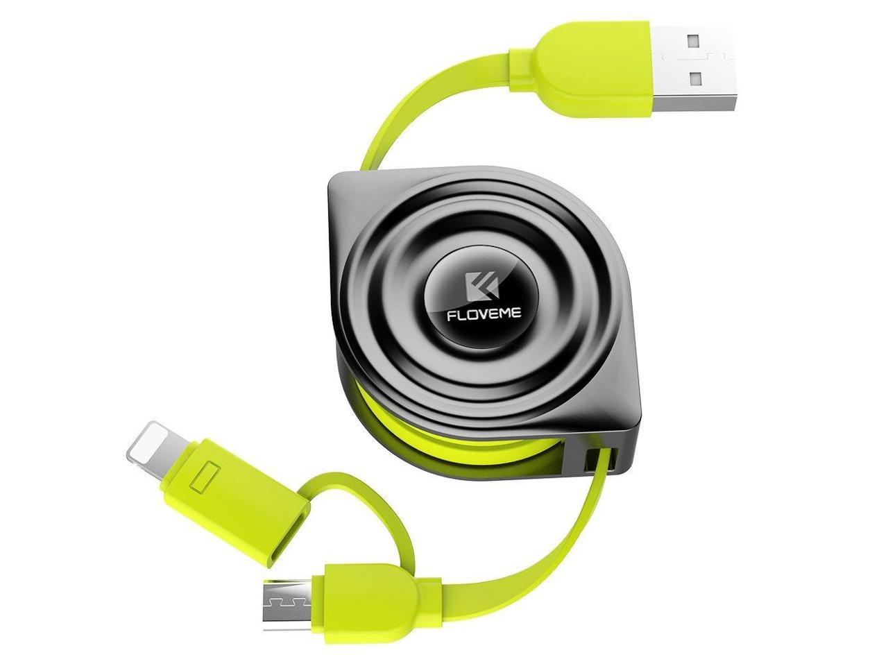 retractable usb charging cable for iphone and android phone hubsgift