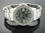 Men King Master 50MM Round 12 Diamond Black Face watch