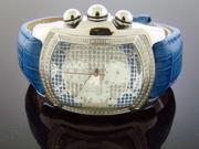 NEW AQUA MASTER BUBBLE LOOP 1.25CT DIAMOND WATCH SILVER & BLUE FACE