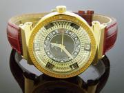 AQUA MASTER LADY 40MM ROUND 12 DIAMOND WATCH YELLOW GOLD CASE WHITE FACE