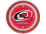 NHL Carolina Hurricanes Neon Clock - 14 inch Diameter