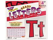 Trend Enterprises TEP79742 Pin-up Ready Letters- 4in.- Pre-punched- Red